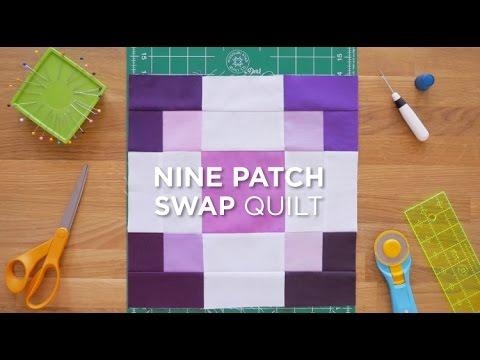 patchwork - blocco nine-patch swap