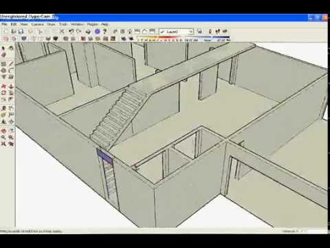sketchup - It is a video of the rendering of a house created in Sketchup. This was a part of a project I did in my CAD class my junior year of high school.