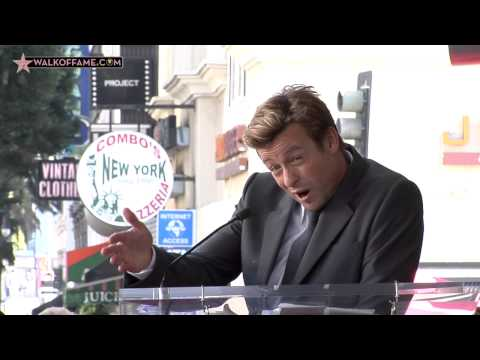 Simon Baker Walk of Fame Ceremony