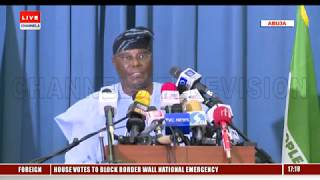 Atiku Holds Press Briefing After Loss In Presidential Election