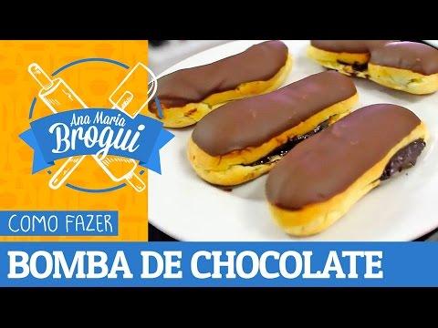 Receitas Doces - COMO FAZER BOMBA DE CHOCOLATE  Ana Maria Brogui #126