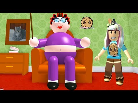 My Grandma ! Roblox Obby  Let's Play Video Games With Cookie Swirl C