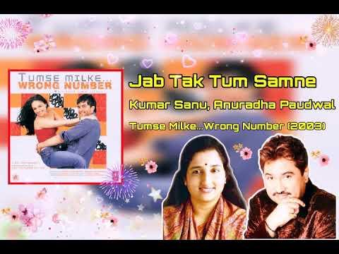Jab Tak Tum Samne | Kumar Sanu | Anuradha Paudwal | Tumse Milke... Wrong Number(2003)
