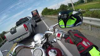 3. Is the Vulcan 800 Big enough for a Man(Highway Run)