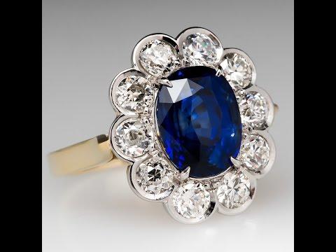 Sapphire Diamond Halo Ring wm10386