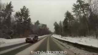 Conway (NH) United States  city pictures gallery : Driving North Conway, N.H. In Winter Snow Storm