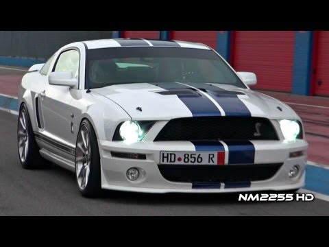 Modified - Full HD 1080p Video By NM2255: Modified Shelby Mustang GT500 Supercharged with full Steeda exhaust system insane sound on the track with start up and lots of...