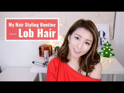 My Hair Styling Routine-Lob Hair