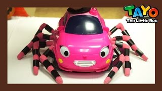 Video Tayo and a cute pink spider in town! l Why pink became a spider man? l Tayo Toy Adventure MP3, 3GP, MP4, WEBM, AVI, FLV Desember 2017