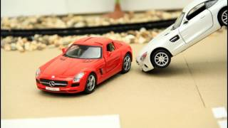 Street race for kids with sports cars