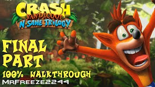 Final part of the Full 100% Walkthrough of the first Crash Bandicoot game in the N. Sane TrilogyI'll be showing you how to get all gems within this walkthrough. Timestamps for each level are below.Crash Bandicoot 1 - N. Sane 100% Walkthrough Full Playlist: https://www.youtube.com/playlist?list=PLdeeW1xZ0DlNQypV_fV76Wv2lDm8F7n5nJungle Rollers - 0:21The Great Gate - 3:14Upstream - 8:40Rolling Stones - 11:35Native Fortress - 15:20Road to Nowhere - 21:15Lights Out - 25:17Boulder Dash - 27:04Cortex Power - 30:59Fumbling in The Dark - 34:06The Great Hall - 36:27Drop a like if you enjoyed this episode and want to support this series. Subscribe if you're new to the channel for more episodes. Thank you very much for watching and i'll see you in the next video, cheers :)To support the channel become a patron:https://youtu.be/y5L8velWHGwClick the link for more info regarding donating to me and supporting the channel to help me get the equipment i need to make content covering older hitman series and splinter cell series:http://www.patreon.com/MrFreeze2244Current Patrons:Timothy PhanMartin HolasPlayerx54Bobby ZhouKevin SaintDavid ParrottBlueCraneKing OsirisEddie ShanksTom FennessyPhillipe LesquinRodney MooreChris MartinBishop NelsonTim TimsenRay DukeMiles WeaverBerian WilliamsJonathan PletschMatt JaggermouthSean RubinNick TaylorEric HugginsPeter BlightanKomiChameleonNicholas ReinBrianHarnaam JandooWeisha LuiSpeedyRunner214Sylvestor ValensSilke KarnerTrickyTravis KessingerAndrew ZhangJoshua CollinsSam (Snake SDR)Rachel van der Meer (Miss Stubby)Follow me on Twitter: http://www.twitter.com/MrFreeze2244Join my new Discord server:https://discord.gg/x7eM5VyFollow me on Twitch:http://twitch.tv/MrFreeze2244Add me on PSN: freeze2244 or Mr-Freeze-2244