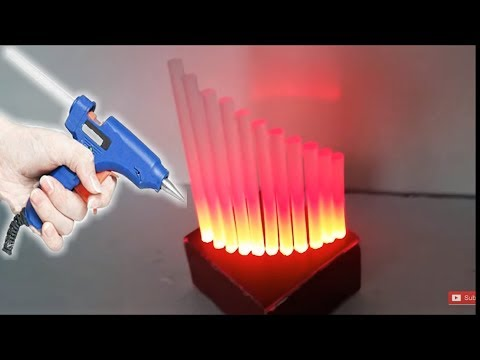Glue Stick Lamp - DIY