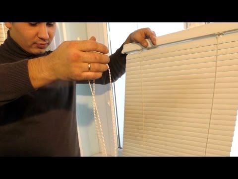 Жалюзи для пластиковых окон своими руками