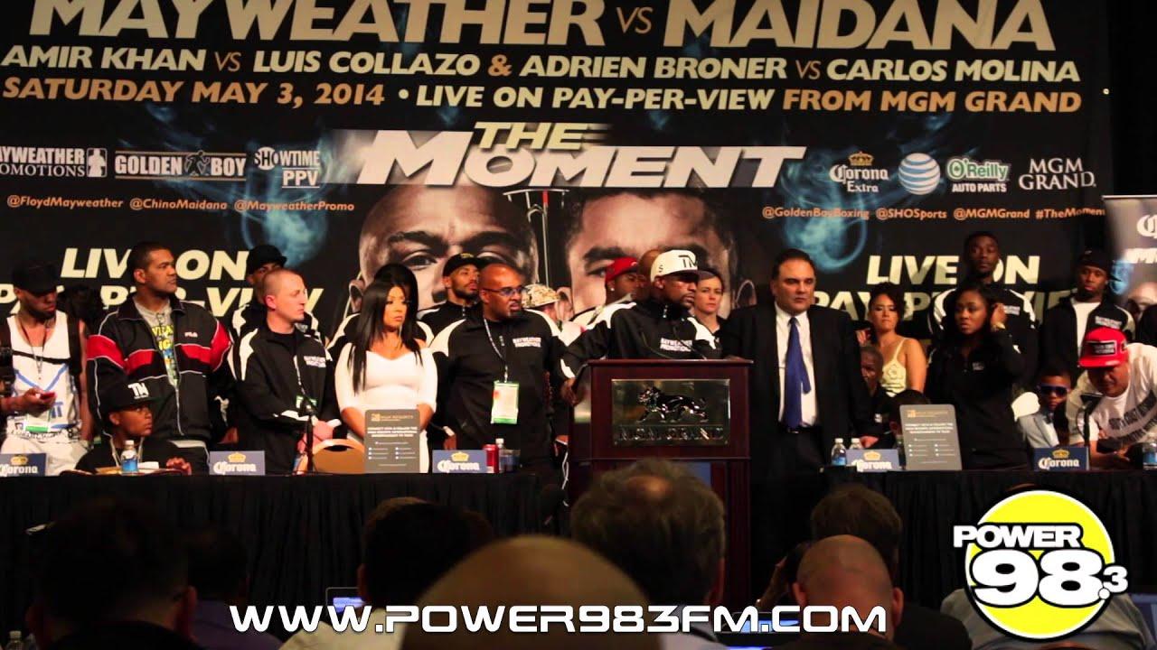 TRASH TALK: Mayweather and Maidana Trading Words At Final Conference