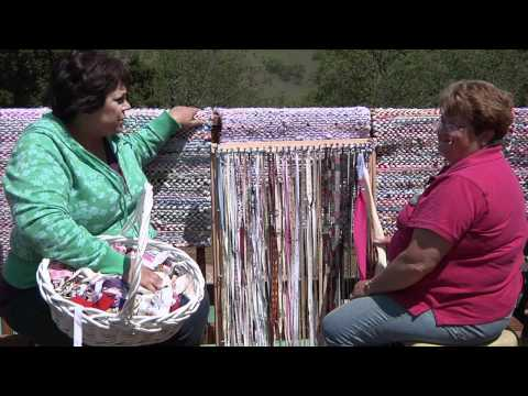 RUG - Janet and John Locey, owners of Bell Hill Farms in Hollister, CA, show us Janet's rag rug weaving techniques and some great tools that John has created to as...