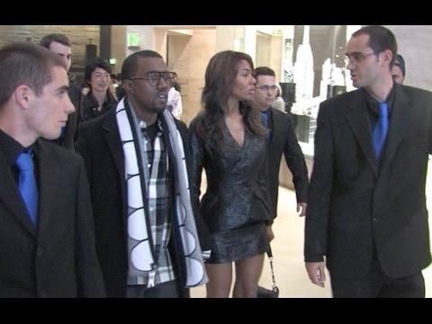Kanye West and Girlfriend Alex Phifer at Vivienne Westwood Fashion Show in Paris in 2007