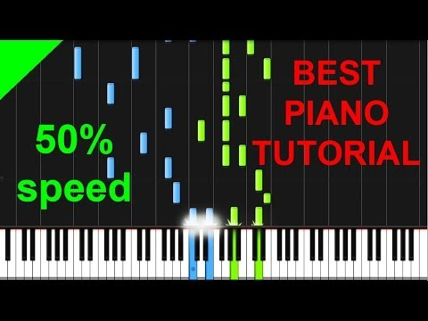 Stoker - Duet (Philip Glass) 50% speed piano tutorial