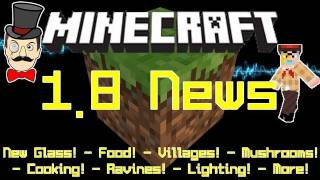 Minecraft 1.8 Update NEWS! NPC Villages, Critical Hits&More!