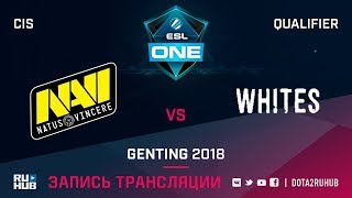 Natus Vincere vs Whites, ESL One Genting CIS Qualifier, game 3 [Adekvat, Smile]