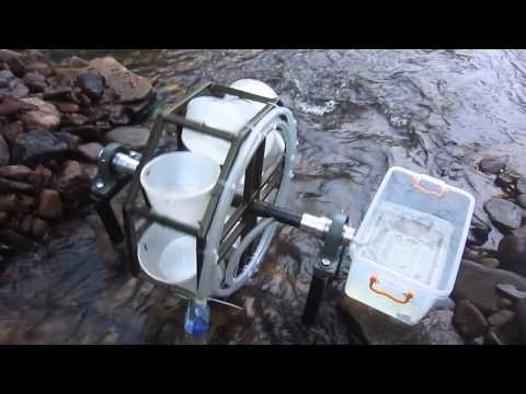 Mechanical Spiral water pump (Preliminary testing at sungai jin, sungai lembing)