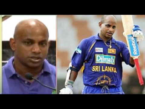 Sanath Jayasuriya dancing with Madhuri Dixit on Indian TV show