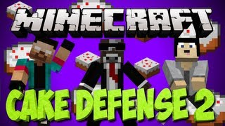 """Minecraft NEW EXCITING """"CAKE DEFENSE 2"""" Minigame Map"""