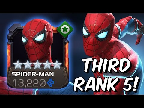 5 Star Stark Enhanced Spider-man Rank 5 Rank Up, Abilities & Gameplay - Marvel Contest Of Champions