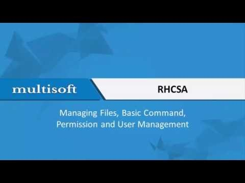Files and Commands in RHCSA Training