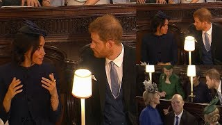 Video RARE MOMENT of conflict ! Meghan rolled her eyes seemed exasperated with Harry at Eugenie's wedding MP3, 3GP, MP4, WEBM, AVI, FLV Juni 2019