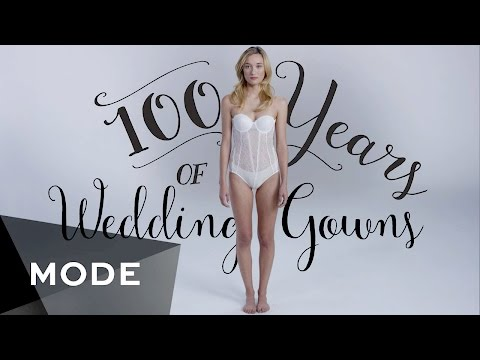 This video shows 100 years of wedding dresses in 3 minutes!