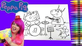 Video Coloring Peppa Pig Rock Band JUMBO Coloring Book Page Crayola Crayons | KiMMi THE CLOWN MP3, 3GP, MP4, WEBM, AVI, FLV Mei 2017