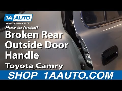 How to Install Replace Broken Rear Outside Door Handle Toyota Camry 92-96 1AAuto.com