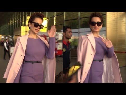 Kangana Ranaut  Fly For Delhi New Year Performance Spotted At Mumbai Airport