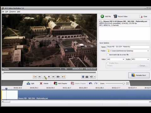 AVS Video Remaker - take parts of a video out - Video Tutorial