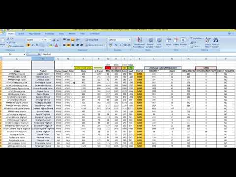 Demand Planning S&OP and Inventory Controlling Model   Created by Kunal Jethwa