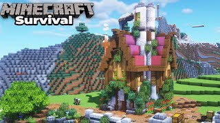Building our FIRST new Village House in Minecraft 1.15 Survival