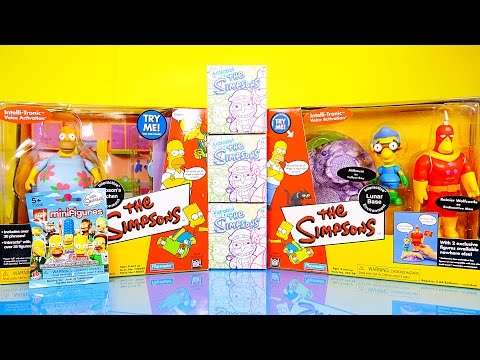 The Simpsons Toys Videos Unboxing Playsets Kidrobot Series 2 Blind Boxes – Disney Cars Toy Club DCTC