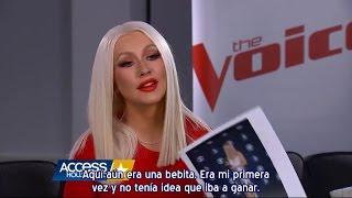 """Christina Aguilera - Entrevista AH """"Fashion Flashback"""" The Voice 10 (Subtítulos español)"""