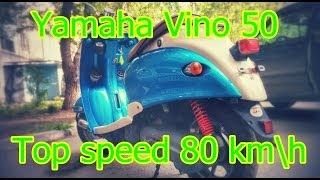 2. [Yamaha Vino 50][Top speed 80 km\h]