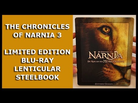 THE CHRONICLES OF NARNIA 3 - LIMITED BLU-RAY LENTICULAR STEELBOOK UNBOXING - MEDIA MARKT EXCLUSIVE