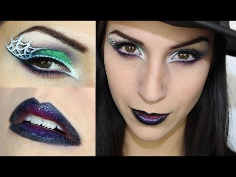 Maquillage d'Halloween : sorcière glam