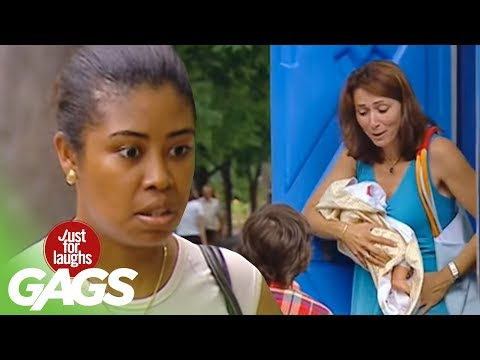 [Just4Laughs Gags Vol 1] Tập 79: Girl gives birth in toilet