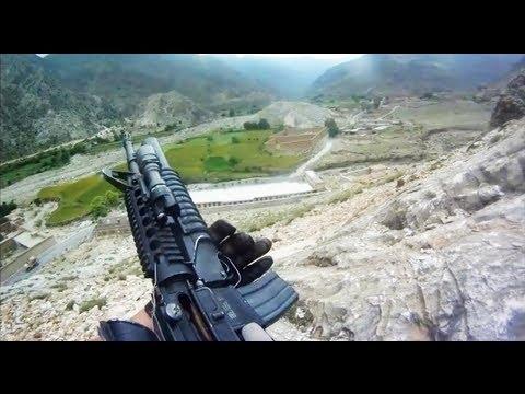 美國大兵在戰場上被機槍掃射實錄!根本沒東西可以掩護!