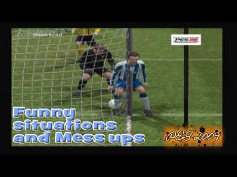 PES 2009 - Funny situations & mess ups vol. 2