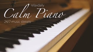 Video Calm Piano Music 24/7: study music, focus, think, meditation, relaxing music MP3, 3GP, MP4, WEBM, AVI, FLV Juli 2018
