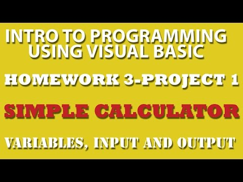 VB.net: Simple Calculator (pp3-1) – Variables, Input and Output