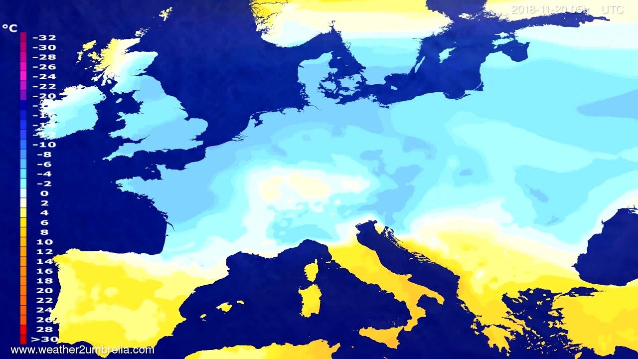 Temperature forecast Europe 2018-11-17