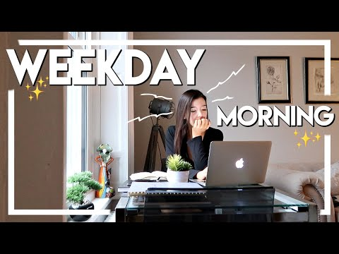 REALISTIC FALL MORNING ROUTINE 2018 | WEEKDAY ROUTINE, GROCERY HAUL + HEALTHY DINNER IDEA