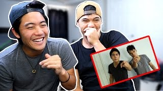 Video REAC(T)ING To OLD VIDEOS! (ft. RYAN HIGA) MP3, 3GP, MP4, WEBM, AVI, FLV September 2018