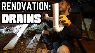 Finally Installing Drain Pipes   Home Renovation #54